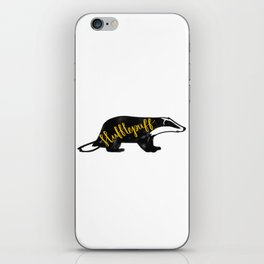 Hufflepuff Badger iPhone Skin