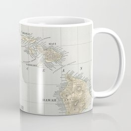 Vintage Map of Hawaii (1901) Coffee Mug