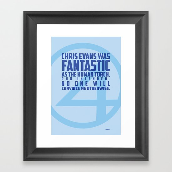 Nerdism 1 - Chris Evans Framed Art Print