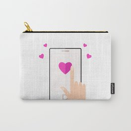 Smart phone with love message for valentines day Carry-All Pouch