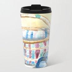 Color-Weaved Basket Metal Travel Mug