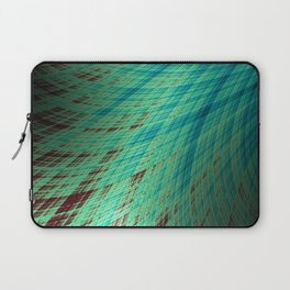 Run Off - Teal and Brown - Fractal Art Laptop Sleeve