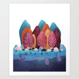 Winter landscapes 2 Art Print