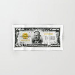 Highly EXCLUSIVE Replica 1934 - 100,000 GOLD CERTIFICATE Bank Note Hand & Bath Towel