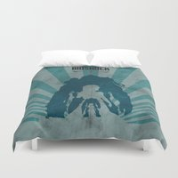 bioshock infinite Duvet Covers featuring Bioshock 2 - Delta and Eleanor by Art of Peach