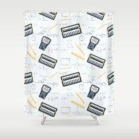 math Shower Curtains featuring Math by S. Vaeth