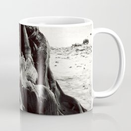 Black and White Tree Bark and Roots Outdoor Nature Photograph Coffee Mug