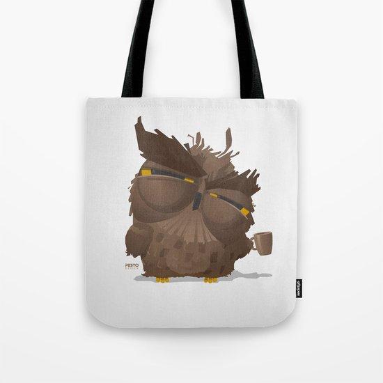 Grumpy coffee owl Tote Bag