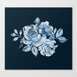 Country Rose on Indigo Canvas Print