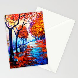 Tardis Art Tree Blossom Stationery Cards