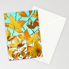 Autumn Leaves Azure Sky Stationery Cards