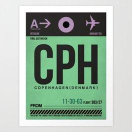 CPH Copenhagen Luggage Tag 1 Art Print