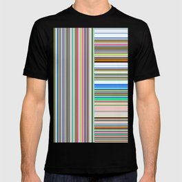 Re-Created  Lines & Stripes 1 by Robert S. Lee T-shirt