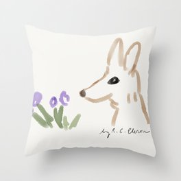 California Kit Fox Throw Pillow