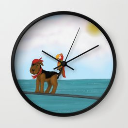 Augie Redbeard Wall Clock