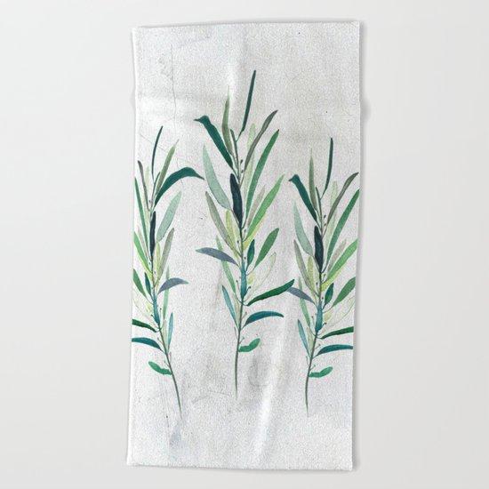 Eucalyptus Branches Beach Towel