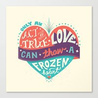 lyrics Canvas Prints featuring Lyrics Love by Pink Berry Patterns