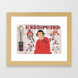 Ohio State Buckeyes - 2014 National Championship (Vector Art) Framed Art Print
