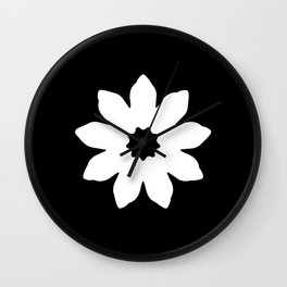 Vector Flower Wall Clock