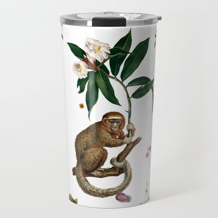 Monkey World: Amber-Ella - White Travel Mug