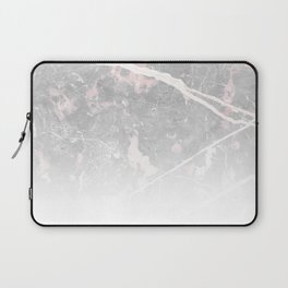 Pastel Pink & Grey Marble - Ombre Laptop Sleeve