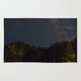 The Milky Way Above Yosemite Valley Rug
