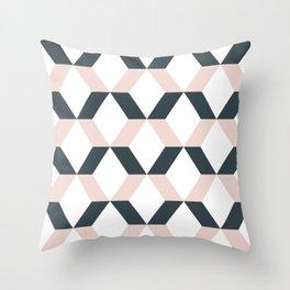 Simple Diagonals Throw Pillow