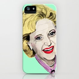 Rose Nylund from the Golden Girls (Green) iPhone Case