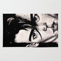 johnny depp Area & Throw Rugs featuring Johnny Depp by Devon Opp