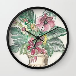 Vase with Fronds Wall Clock