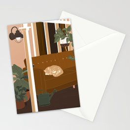 Porch Cat Stationery Cards