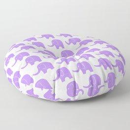 Purple Elephant Parade Floor Pillow