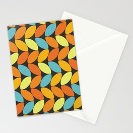 Retro 70s Color Palette Leaf Pattern II Stationery Cards