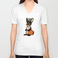 jackalope V-neck T-shirts featuring Jackalope by JoJo Seames