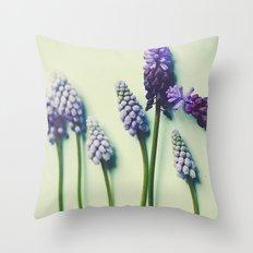 Pretty Blue Flowers Throw Pillow