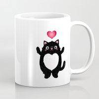 fat Mugs featuring Fat Cat by Anna Alekseeva kostolom3000