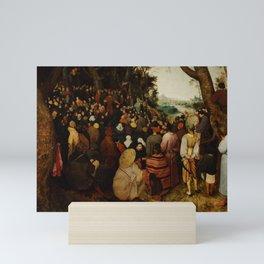 "Pieter Bruegel (also Brueghel or Breughel) the Elder ""The Sermon of Saint John the Baptist"" Mini Art Print"