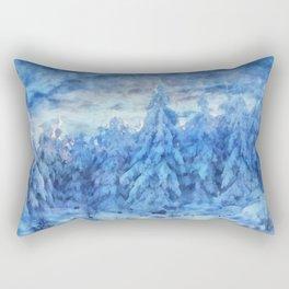 Magical winter forest Rectangular Pillow