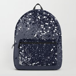 Sparkling Navy Blue Summer Night Glitter #1 #shiny #decor #art #society6 Backpack