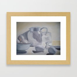 light breakfast Framed Art Print