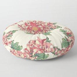 The Chrysanthemum of Pugs Floor Pillow