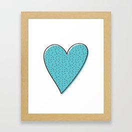 Furry Heart Framed Art Print