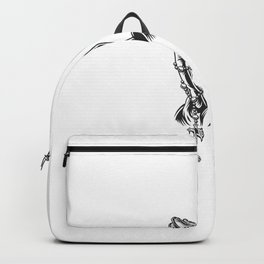Praying Hands Holding Rosary Beads Backpack