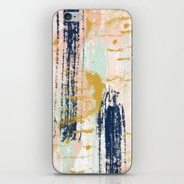 Blush, Gold, Navy, White, Mint Abstract  iPhone Skin