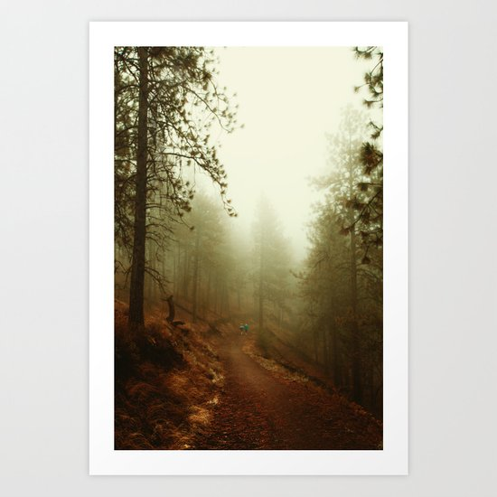 Autumn in Ponderosa Pines Forest Art Print