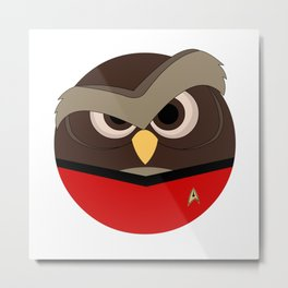 Redshirt Owl Metal Print