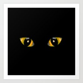 Halloween Cat Eyes Art Print
