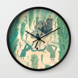 A Wizard's Garden Wall Clock