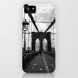 new york city ... crossing brooklyn bridge iPhone Case