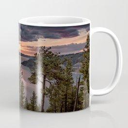 Mineral Ridge Sunset on Lake Coeur d'Alene Coffee Mug